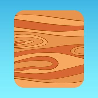 Cartoon houten patroon mobiele app ui pop-uppaneel bruin boompatroon vierkant premium vector