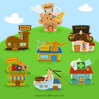 Cartoon huis vector