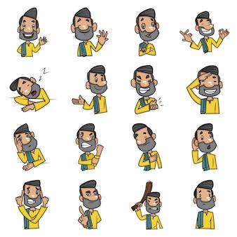 Cartoon illustratie van de mens.