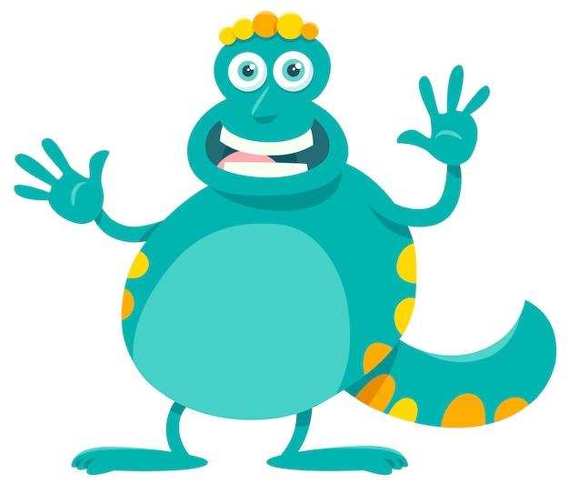 Cartoon illustratie van fantasy monster karakter