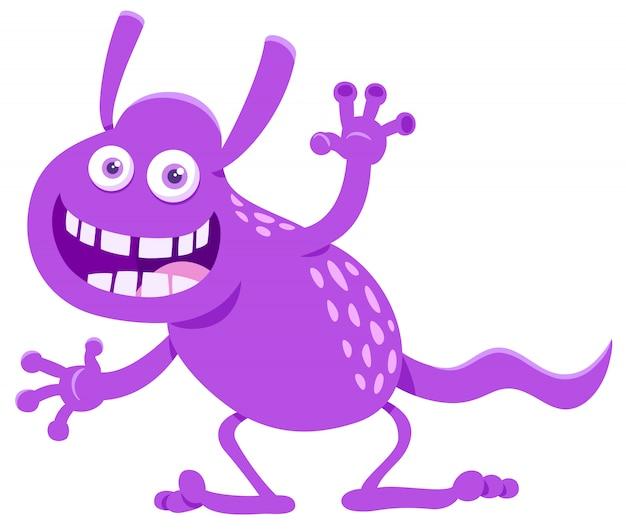 Cartoon illustratie van grappige fantasy monster