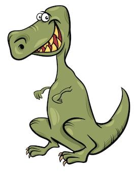 Cartoon illustratie van het karakter van de dinosaurus