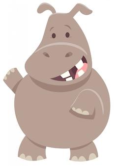 Cartoon illustratie van nijlpaard dier