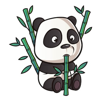 Cartoon illustratie van panda.