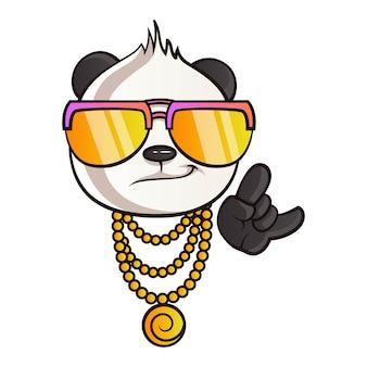 Cartoon illustratie van panda.