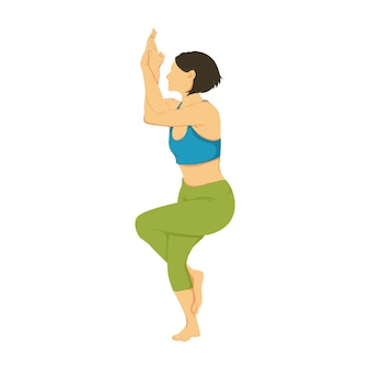 Cartoon illustratie van yoga pose