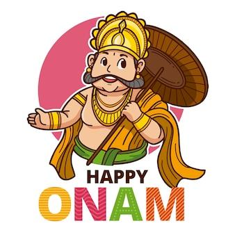 Cartoon indiase onam illustratie