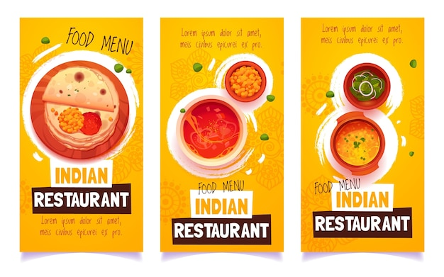 Cartoon indiase restaurantbanners