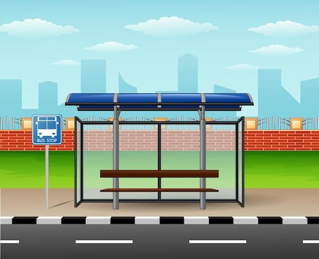 Cartoon is een halte van de stadsbus