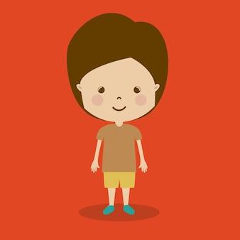 Cartoon jongen