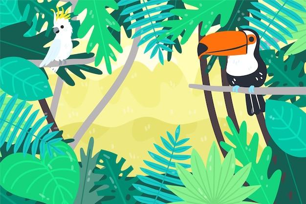 Cartoon jungle achtergrond