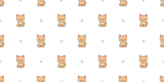 Cartoon karakter pommeren hond naadloze patroon achtergrond