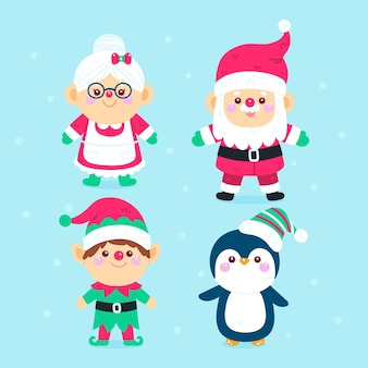 Cartoon kerst tekens collectie