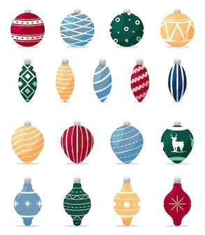 Cartoon kerstboom decoraties