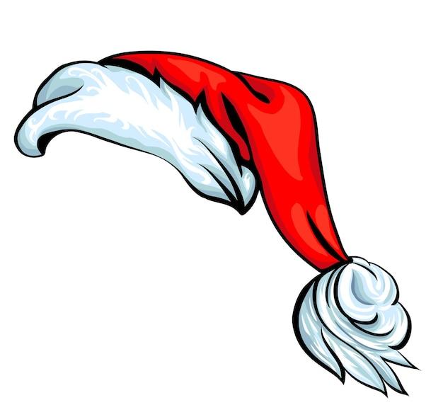 Cartoon kerstmuts geïsoleerd op wit eps 10 vector