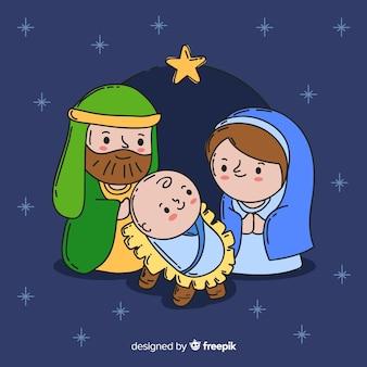Cartoon kerststal