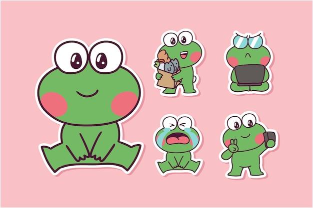 Cartoon kikker illustratie
