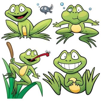 Cartoon kikkerkarakter