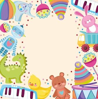 Cartoon kinderen speelgoed grappige recreatie