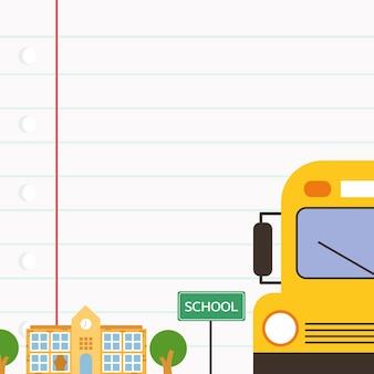 Cartoon kinderen terug naar school achtergrond