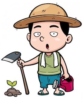 Cartoon kleine boer
