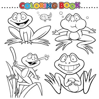 Cartoon kleurboek - kikker