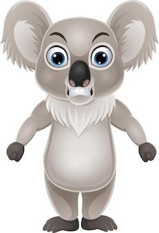 Cartoon koala staande met boze uitdrukking