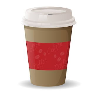 Cartoon koffie fastfood