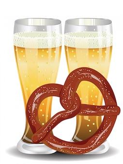 Cartoon krakeling met bier
