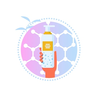 Cartoon label voor lotion of make-up remover