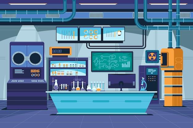 Cartoon laboratorium kamer illustratie