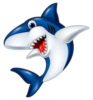 Cartoon lachende haai