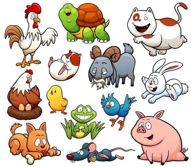 Cartoon landbouwhuisdieren karakter
