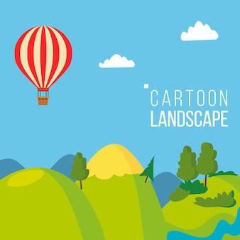 Cartoon landschap achtergrond