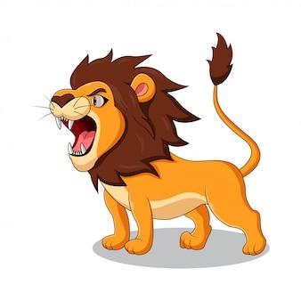Cartoon leeuw brullen