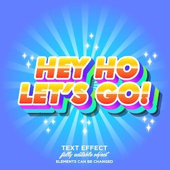 Cartoon lettertype effect met dubbele kleur schaduw