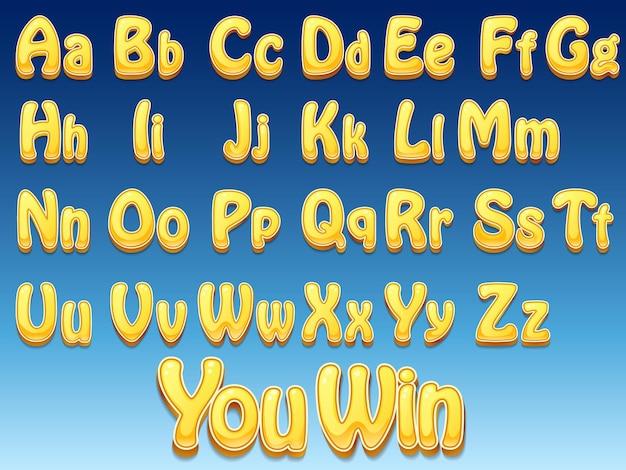 Cartoon lettertypen
