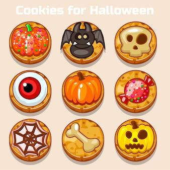 Cartoon leuke grappige halloween-koekjes