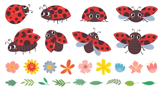 Cartoon lieveheersbeestje