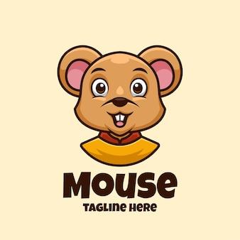Cartoon logo schattige muis
