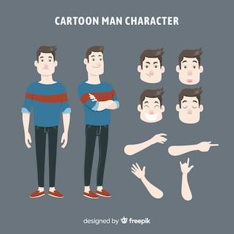 Cartoon man voor ontwerp van de beweging
