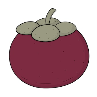 Cartoon mangosteen