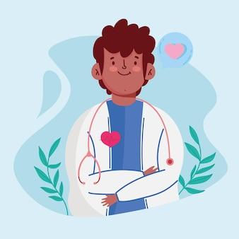 Cartoon mannelijke dokter