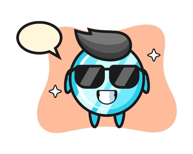 Cartoon mascotte van spiegel met cool gebaar