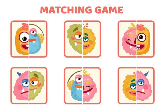 Cartoon match kaartspel