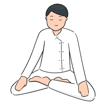 Cartoon meditatie