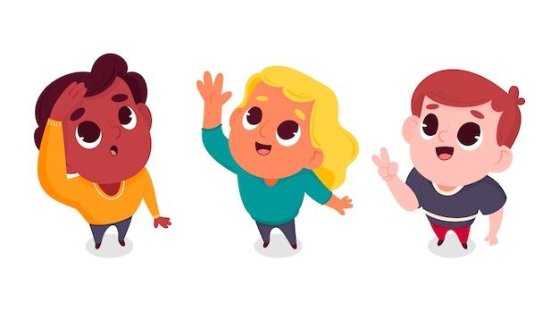 Cartoon mensen opzoeken geïllustreerd