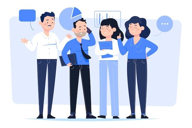 Cartoon mensen uit het bedrijfsleven instellen