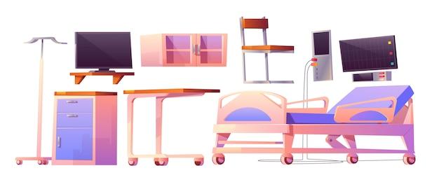 Cartoon meubilair voor ziekenhuisafdeling