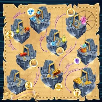 Cartoon mijnbouw spel sjabloon